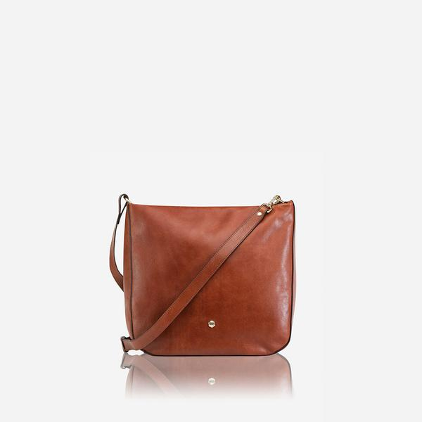 Jekyll And Hide Madrid Petite Leather Crossbody Bag Tan