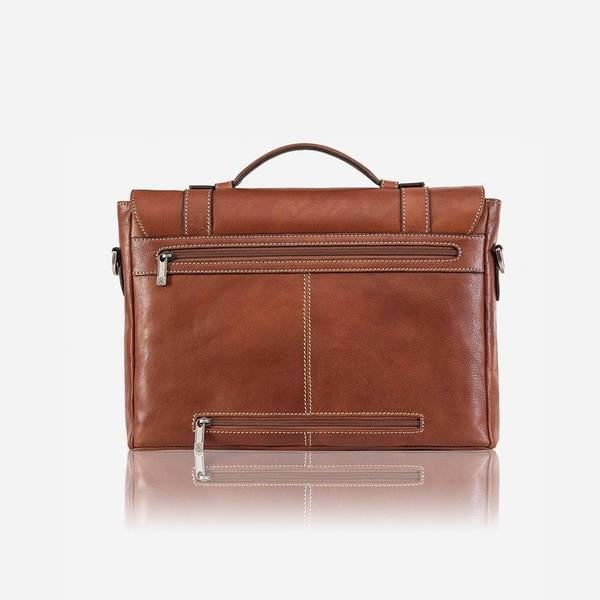 Jekyll And Hide Montana Large Double-Buckled Briefcase Colt