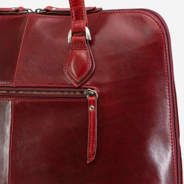 Jekyll And Hide Oxford Medium Leather Laptop Handbag Rust