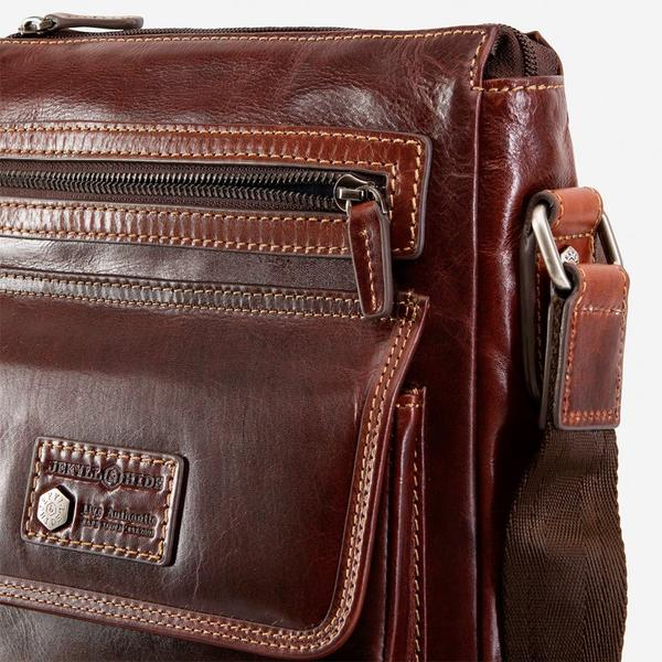 Jekyll And Hide Oxford Crossbody Organiser/Sling Bag Tobacco