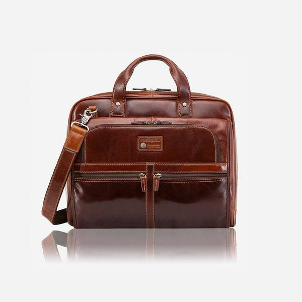 Jekyll And Hide Oxford Extra Large Briefcase Tobacco