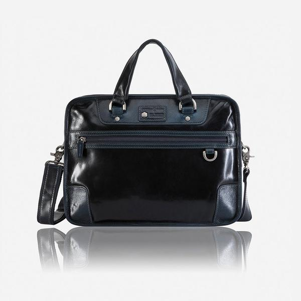 Jekyll And Hide Oxford Medium Laptop Briefcase Navy