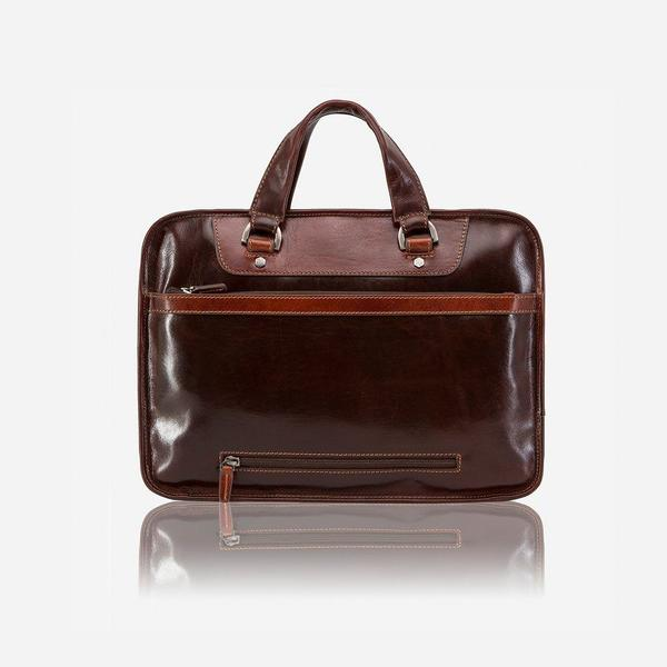 Jekyll And Hide Oxford Medium Laptop Briefcase Tobacco