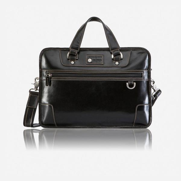 Jekyll And Hide Oxford Medium Laptop Briefcase Black