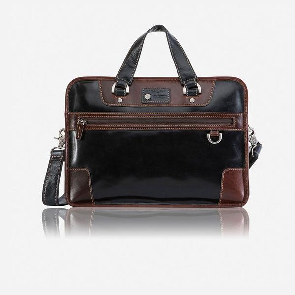 Jekyll And Hide Oxford Medium Laptop Briefcase Two Tone