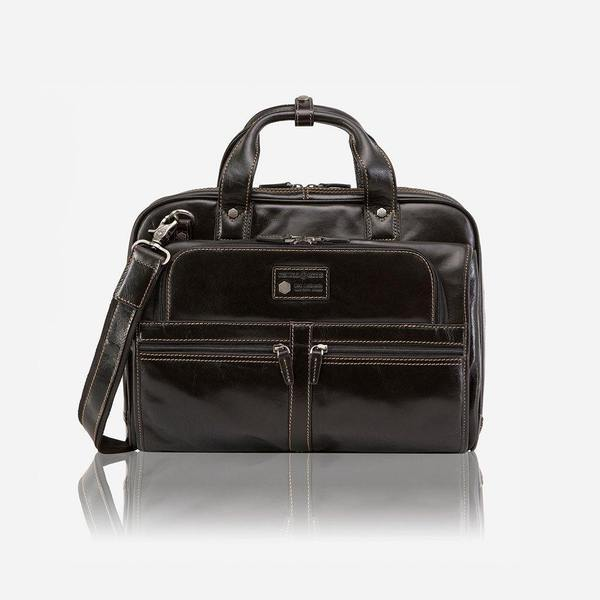 Jekyll And Hide Oxford Large Multi Compartment Briefcase Black
