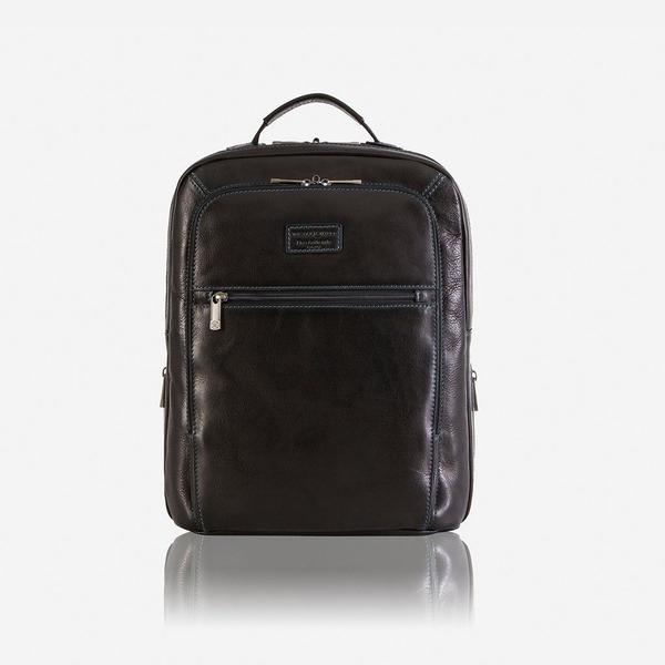 Jekyll And Hide Montana Medium Slim Leather Laptop Backpack Black