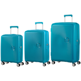 American Tourister Soundbox Set of 3 Spinners Summer blue