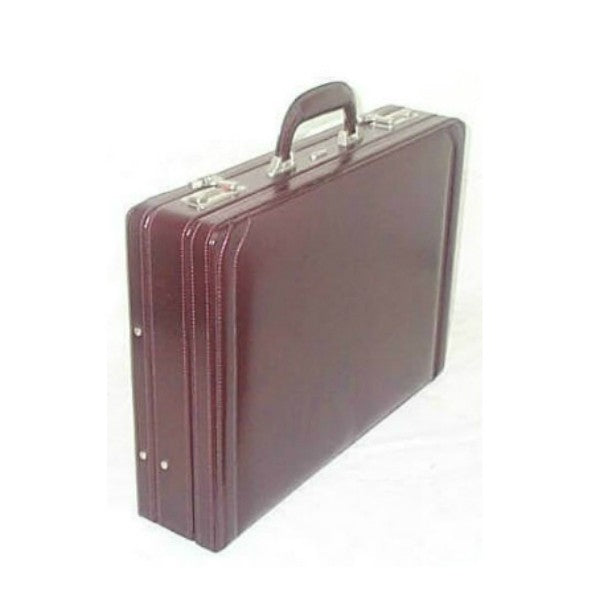 Gino De Vinci Leather Attache Burgundy