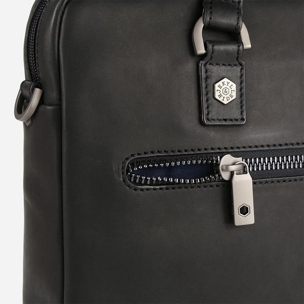 Jekyll And Hide Soho Medium Leather Briefcase Black