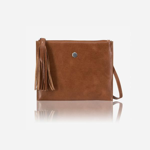 Jekyll And Hide New York Ladies Slim Crossbody/Sling Bag Tan