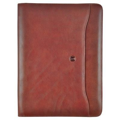 Busby Premier A4 Zipper Folder Brown