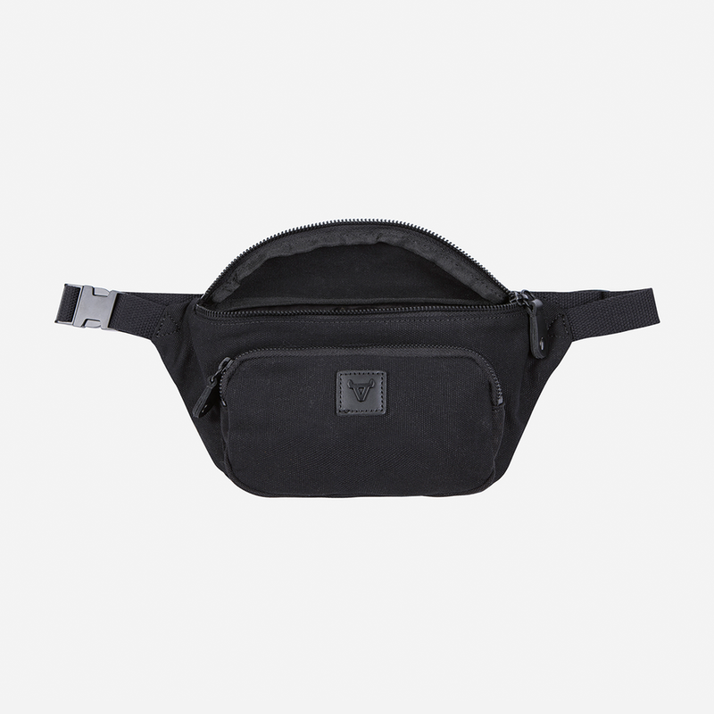 Brando Canvas Compact Waist Bag Black