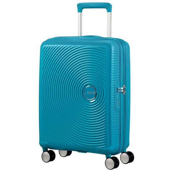 American Tourister Soundbox  Expandable 55cm Summer Blue