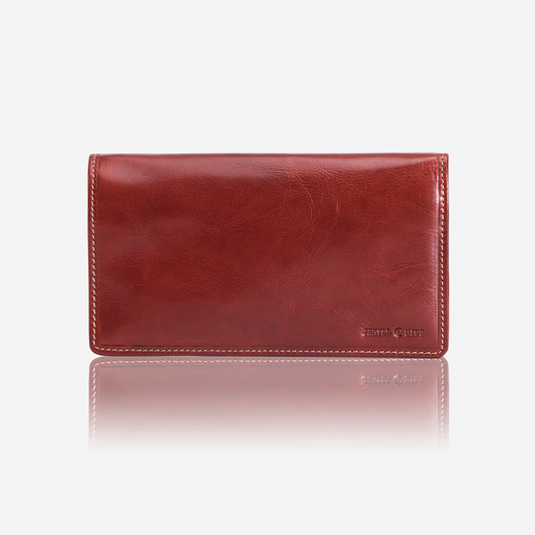 Jekyll And Hide Oxford Clutch Leather Purse Rust