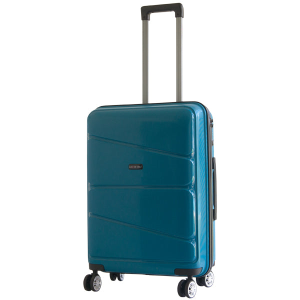 Gino De Vinci Swirl 55cm Carry On Blue