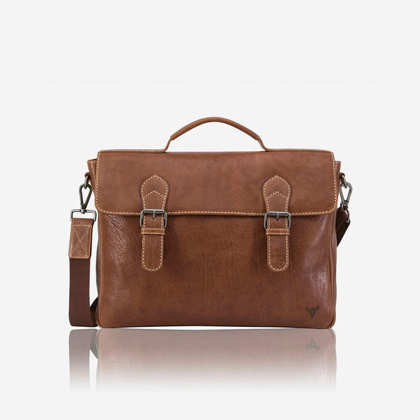 Brando Vintage Styled Classic Briefcase Tan