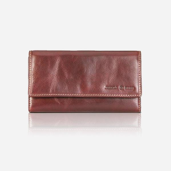 Jekyll And Hide Oxford Trifold Leather Purse Coffee