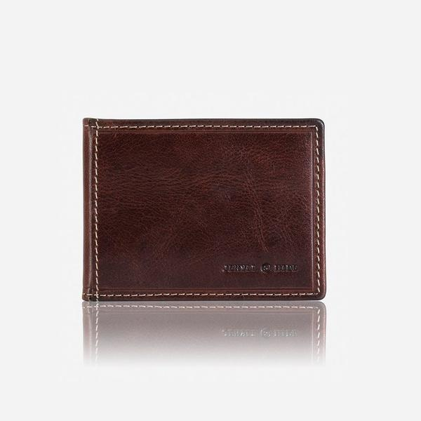 Jekyll And Hide Oxford Slim Billfold Card Holder Coffee