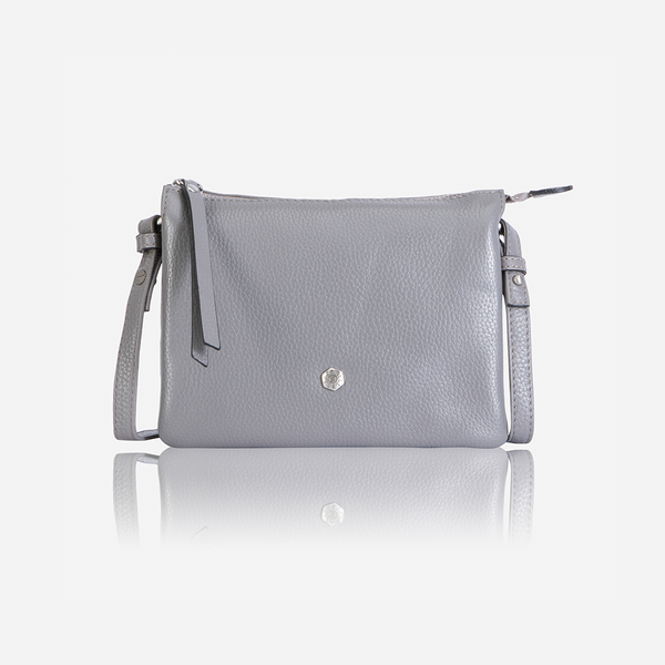 Jekyll And Hide Osaka Slim Ladies Leather Crossbody/Sling Oyster