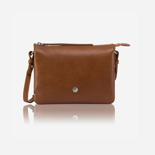 Jekyll And Hide Osaka Slim Ladies Leather Crossbody/Sling Tan