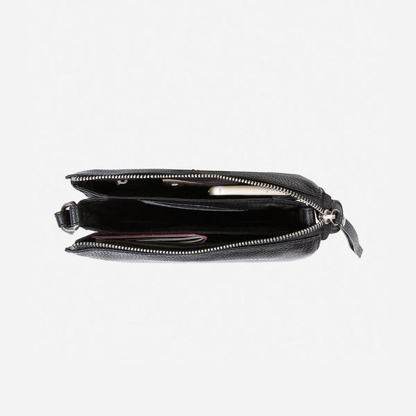 Jekyll And Hide Osaka Slim Ladies Leather Crossbody/Sling Black