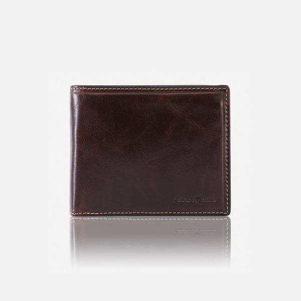 Jekyll And Hide Oxford Medium Billfold Wallet With Coin Coffee