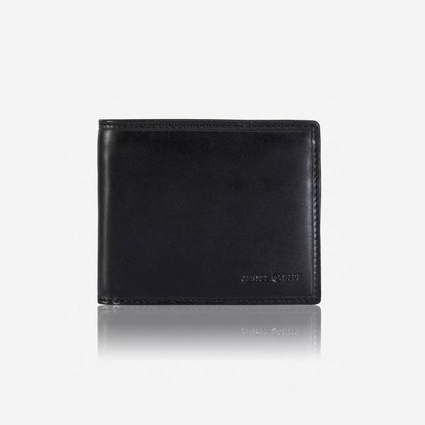 Jekyll And Hide Oxford Medium Billfold Wallet With Coin Black