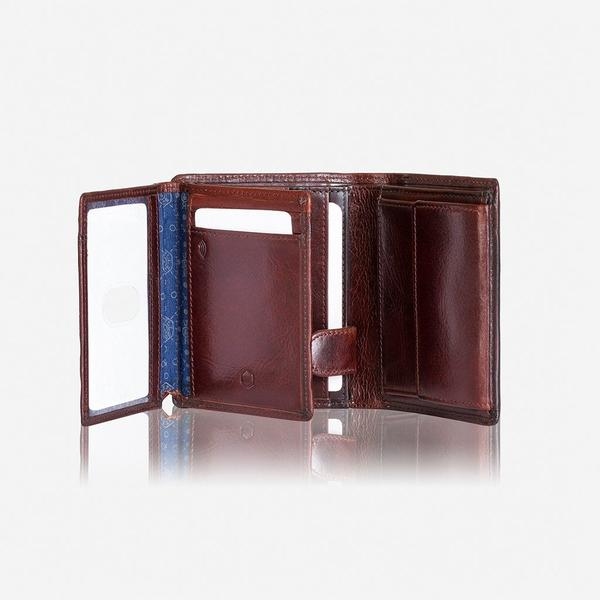 Jekyll And Hide Oxford Large Billfold Wallet With ID Window Coffee