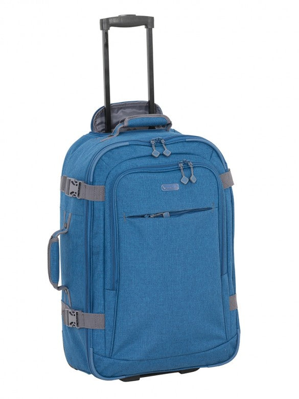 Voyager Fusion 60cm 2 Wheel Trolley Case Blue