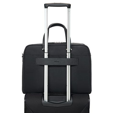 Samsonite Zalia Bailhandle 39.6cm/15.6inch Black