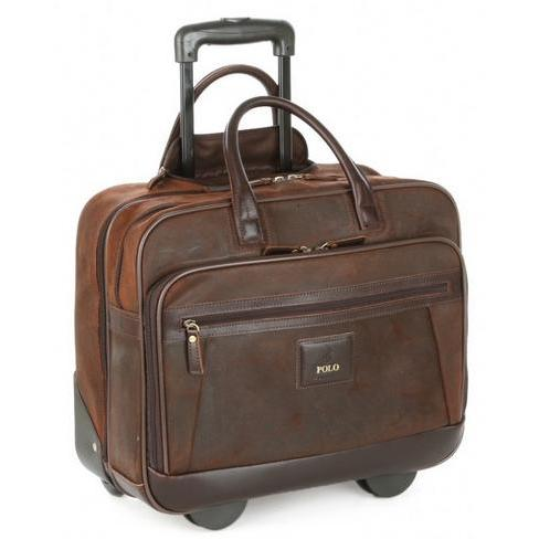 Polo Business Trolley On Wheels Brown