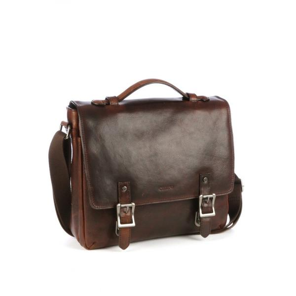 Cellini Woodbridge Large Briefcase Brown