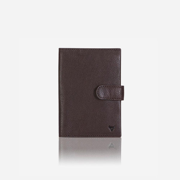 Brando Impala RFID Passport Holder And Wallet Dark Brown