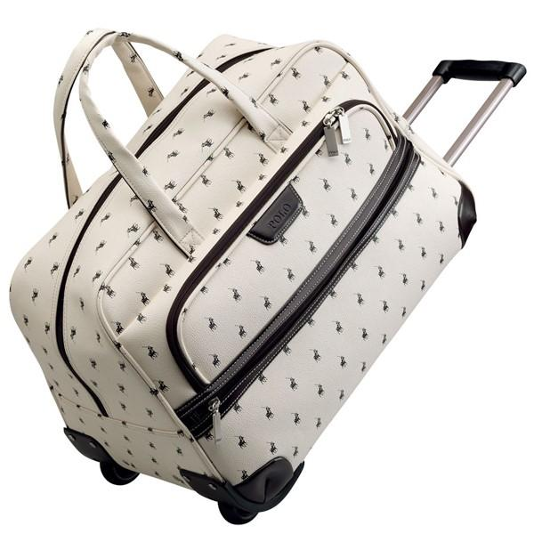 Polo Classic Rolling Carry-On Duffel Bag Biege