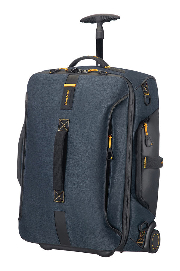 Samsonite Paradiver Light 55cm Duffle On Wheels Backpack Jeans Blue