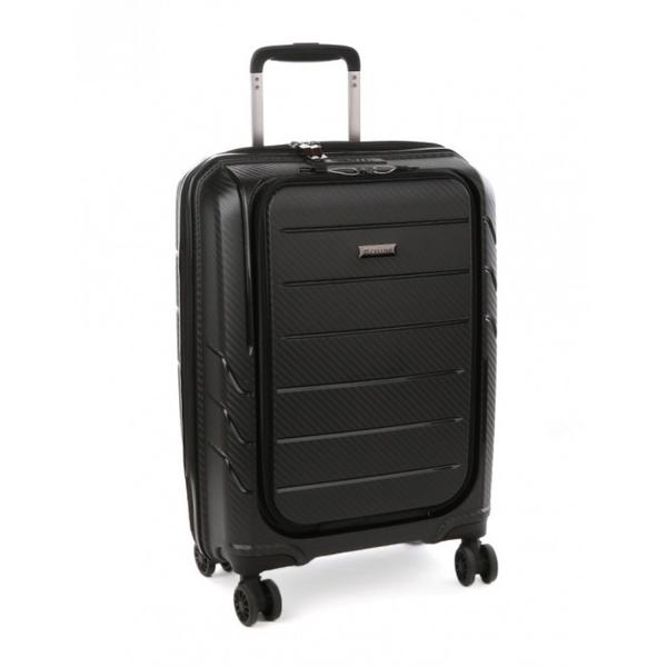"Cellini Microlite 55cm Laptop Cabin Trolley 17.3"" black"