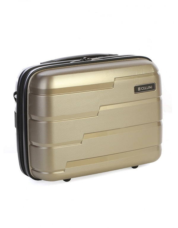 New Cellini Microlite Beauty Case Gold