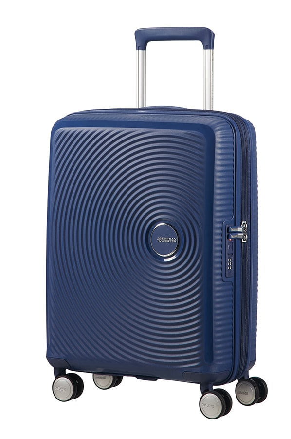 American Tourister Soundbox Expandable 55cm Midnight Navy