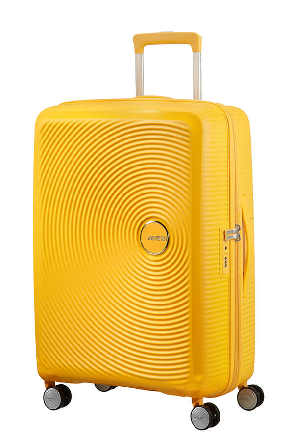 American Tourister Soundbox 3 Piece Set Golden Yellow