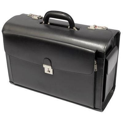 Busby Cersus Bonded Leather Pilot Case Black