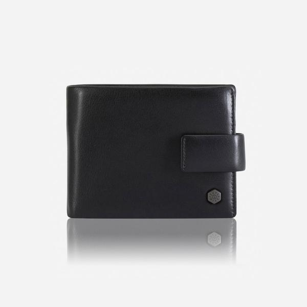 Jekyll And Hide Monaco Large Billfold Wallet With Coin And Tab Black