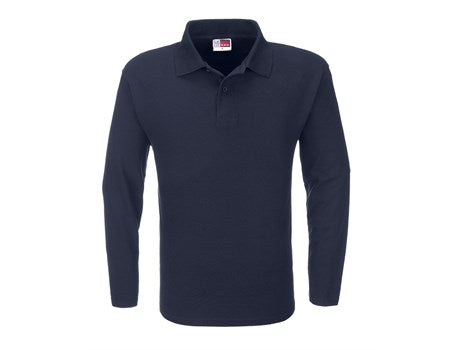 Mens Long Sleeve Boston Golf Shirt - Navy Only