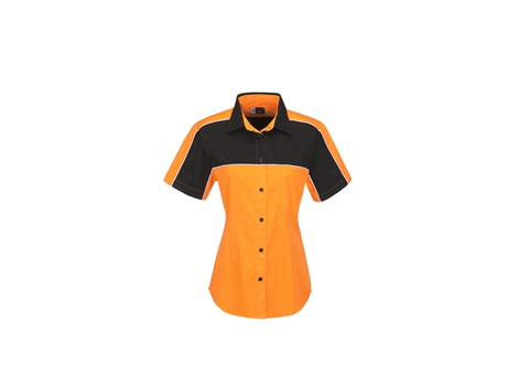 Ladies Daytona Pitt Shirt - Orange Only