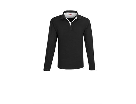Mens Long Sleeve Solo Golf Shirt -White Only