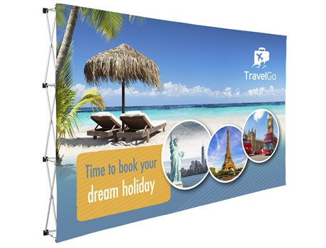Legend Straight Banner Wall 3.7m x 2.25m