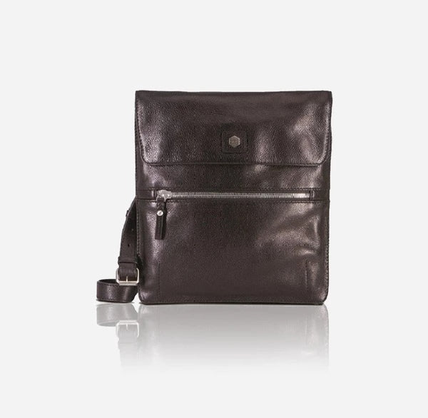 Jekyll And Hide Berlin iPad Leather Messenger Black