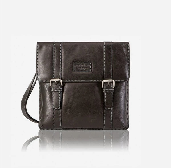 Jekyll And Hide Montana Slimline Leather Crossbody/Sling Bag Black