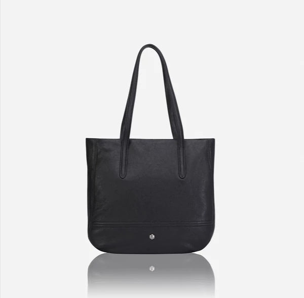 Jekyll And Hide Camden Large Minimalist Crossbody Hobo Black