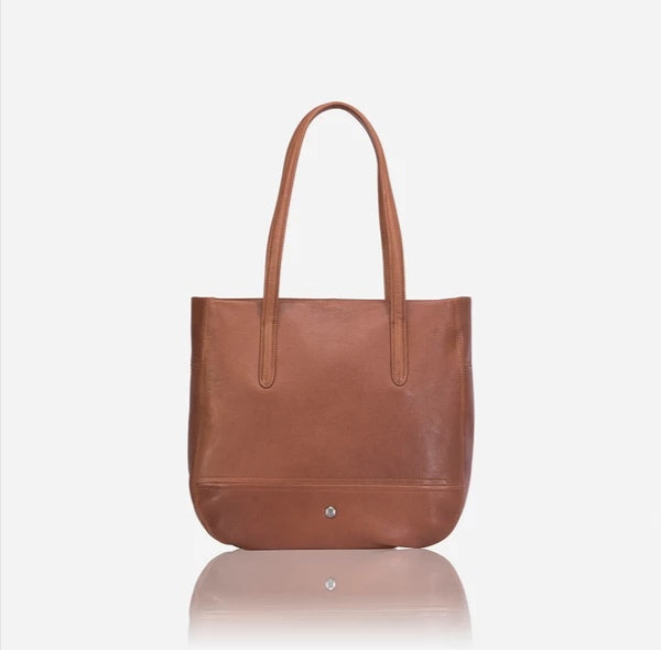 Jekyll And Hide Camden Large Minimalist Crossbody Hobo Tan